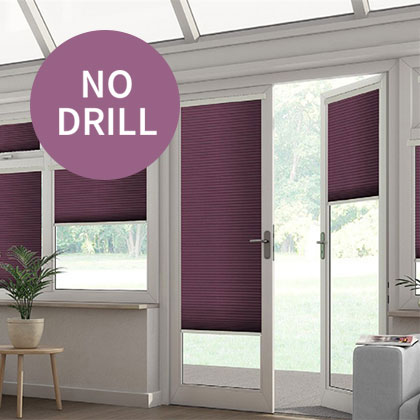 No Drill Cellular Blinds