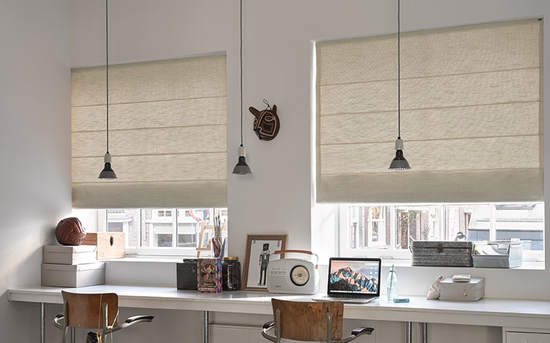 Free Hanging Roman Blinds