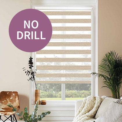 No Drill Next Day Delivery Blinds