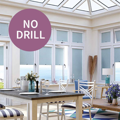 No Drill Roller Blinds