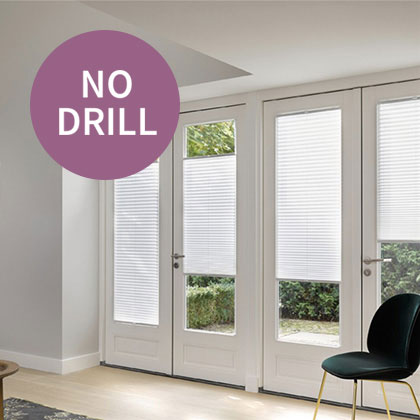 No Drill Pleated Blinds