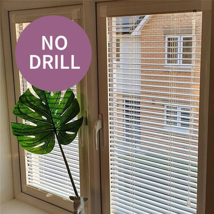 No Drill Venetian Blinds